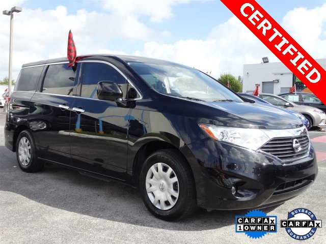 2012 Nissan Quest 35 S Black CLEAN CARFAX ONE OWNER LOW MILES NON-SMOKER C