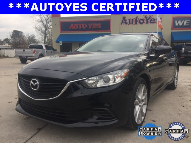 2015 Mazda Mazda6 i Black Just Reduced TINTED WINDOWS CARFAX 1-OWNER LEATHER CL